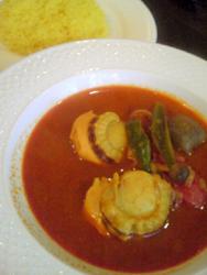 ホタテと野菜のスープカレー